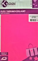 Transfert thermocollant rose fluo 15x20 cm