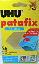 UHU Patafix Transparent - 56 Pastilles Adhésives