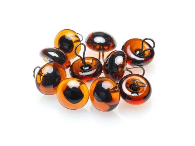 Yeux d\'animaux Bruns - marron Ø 6 mm en verre à coudre -10 pcs