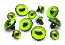 Yeux de Chat Ø 8mm Vert en plastique -10 pcs