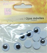 Yeux mobiles ronds 12mm X10