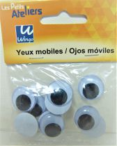 Yeux mobiles ronds 18mm X10