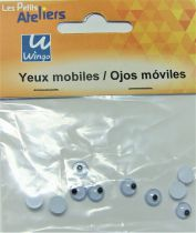 Yeux mobiles ronds 6mm X10