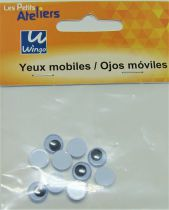 Yeux mobiles ronds 8mm X10
